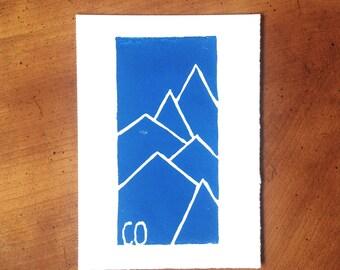"""Colorado Mountain Print - 5""""x7"""""""