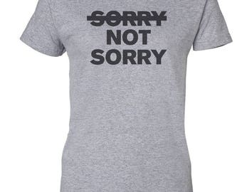 Sorry Not Sorry Custom Women's Ultra Cotton Gildan T-Shirt-Sport Gray
