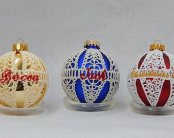 Custom Embroidered Lace Christmas Ornament