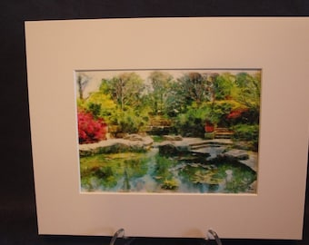 Digital Painting Dallas Arboretum