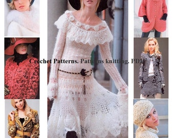 Crochet Patterns. Patterns knitting. E-book. Instant Download PDF. Journal Mod #583