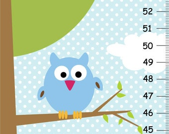 Owls in a Tree Canvas GROWTH CHART
