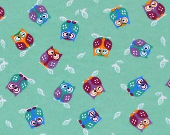 Snuggle Flannel Fabric - Winking Owls - 3/4 Yard