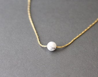 Marble bead choker // marble necklace // marble choker