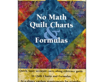 Quilters Reference Book, No Math Quilt Charts & Formulas, Landauer Publishing, Handy Guide for Quilters, Gift for Quilters, Quilt Booklet