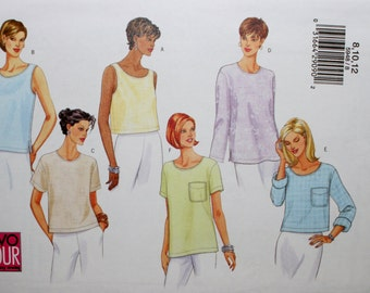 Butterick 5948 Misses' Classic Top Sewing Pattern New / Uncut Size 8,10,12