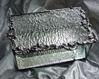 Textured glass box