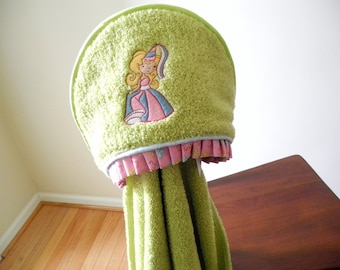 princess towel girl hooded towel bath wrap personalized