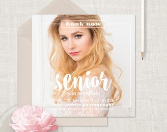 Senior Marketing - Senior Marketing Template, Photographer Marketing, Senior Mini Session Template, Instagram Marketing, Marketing Board