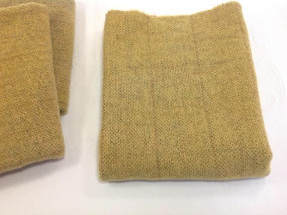Fat 1/4 yard, Hand Dyed Wool, Harvest Gold, W428,  Rug Hooking Wool, Applique Wool, Golden Wheat, Moon, Stars