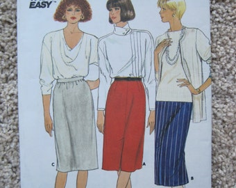 UNCUT Misses Skirt - Size 12 to 16 -  Butterick Sewing Pattern 3427 - Vintage 1985