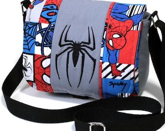 Spiderman Comic Book inspired 'Superhero' crossbody adjustable purse