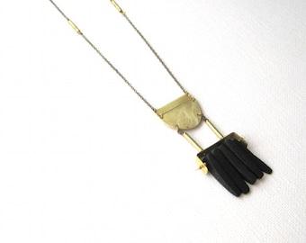Primal Black Coconut Shell Dagger Necklace