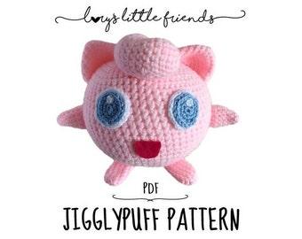Crochet Pattern Jigglypuff Pokemon Amigurumi PDF