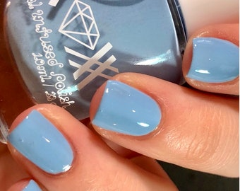 Roxx for Kids - Blue Lace Agate - Peace - Crystal Infused Nail Polish - Non-Toxic - Vegan - Crystal Energy