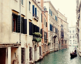 italy photography, venice italy, europe art, blue decor, travel photography, The Canals II