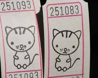 Vintage Style Hand Stamped Cat's Meow Carnival Tickets