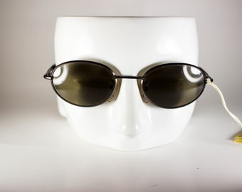 ROLLING Vintage Sunglasses Unisex Purple Metal Plastic Oval 1990s ROLS207E-1