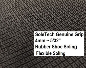 Shoe Making Supplies, SoleTech Rubber, Genuine Grip Sole Rubber, Flexible Shoe Soling Rubber, All Weather Shoe  Sole Supplies