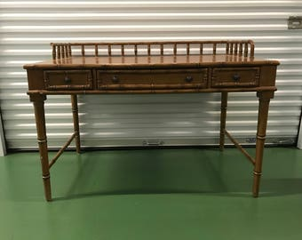 CUSTOMIZABLE Faux Bamboo Desk