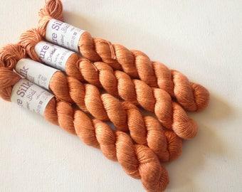 Debbie Bliss Pure Silk yarn 50g Burnt Orange