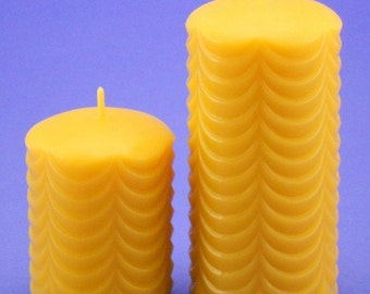Beeswax Pillar Candles, 2.5 x 3 and 2.5 x 5 Pure Beeswax Cappings Pillar Candles, Handmade Bees Wax Candles, Best Beeswax Candles