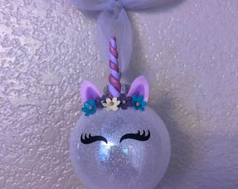 Glitter Unicorn Ornaments!