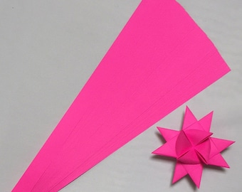 Single Color Fuchsia, 5 sizes , 25 inch long, (50 strips)
