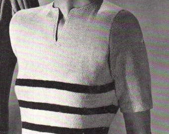 Vintage 1949 Knitted Gorgeous Classic Pullover 5109 PDF Pattern / Jack Frost Book 51