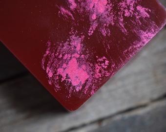 L'hiver Grenade savon - Nectar de Grenade, pétillant pamplemousse, genièvre, romarin - fait à la main de glycerine