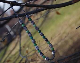 Bellbird Neutral, long beaded necklace