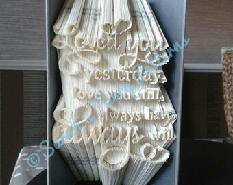 Half Price Sale - Love Quote - Combi Cut And Fold - Book Folding Pattern