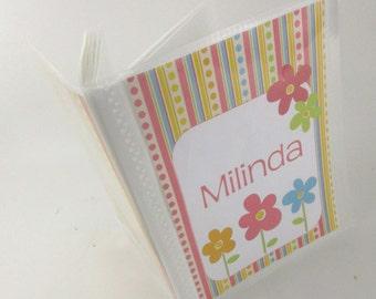 Girl baby photo album spring flower mothers day gift shower gift girl photo book grandmas brag book 569