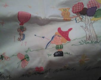 Vintage Child's sheet and pillowcase