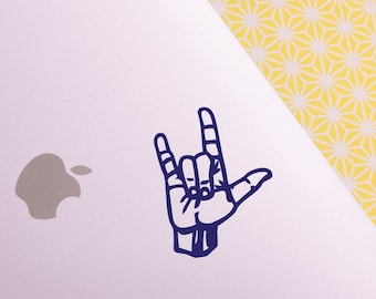 ASL: ily (American Sign Language- I love you) decal