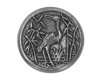 Crane 5/8 inch ( 16 mm ) Susan Clarke Metal Button Antique Silver