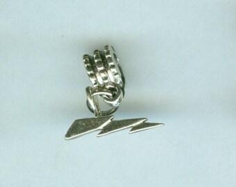 Sterling LIGHTNING BOLT Bead Charm for All Name Brand Add a Bead Bracelets