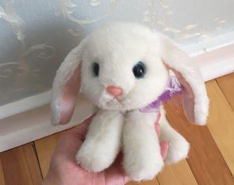 Vintage 1995 Tyco Bunny Bunny Bunnies White Stuffed Animal Rabbit!