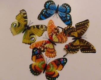 Set of 20 Mini plastic butterflies loving
