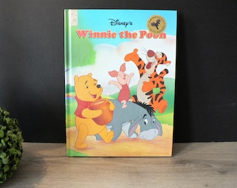 Disney's Winnie the Pooh Hardcover Picture Book - Vintage - Children's Classic Literature - Storybook