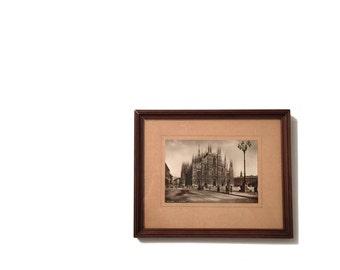 Duomo di Milano Framed Vintage Postcard
