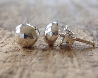 Sterling Silver Stud Earrings, Sterling Silver Post Earrings, Sterling Silver Pebble Earrings, 925 Stud Earrings, Ball Studs, Sterling Studs