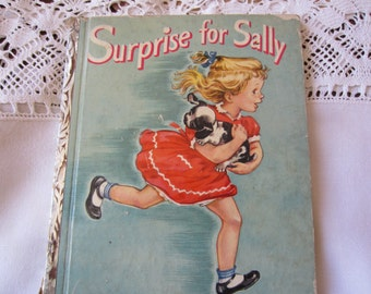 Surprise for Sally  - A Little Golden Book 1950's