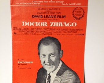 Vintage Sheet Music Somewhere My Love Doctor Zhivago Movie - 1960s Collectible Musician Musical Display Artwork Piano Musician Lara's Theme