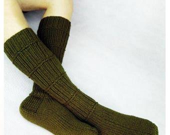 Men wool socks. Hand knit wool socks. Winter fishing socks. House socks. Indoor socks. Birthday present.