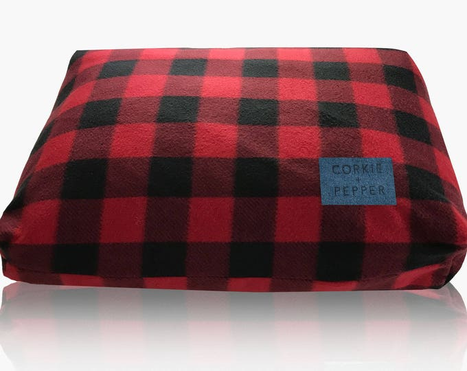 Featured listing image: Corkie and Pepper Fleece Dog Bed