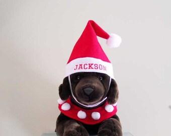 Christmas Pet Santa Costume Medium Personalized - Pet Santa Suit  Medium