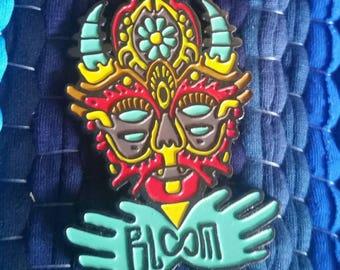 Sonic Bloom Ornate Mask Festival Pin by Kooz