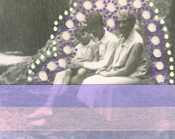 Vintage Photo Collage Family Created With Pink, Purple And Brown Washi Tape My And Posca Pens