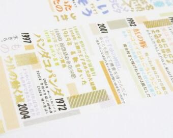Movie title Design - Japonisme Series 15 - Japanese Washi Masking Tape - 50mm wide - 3.3 yard